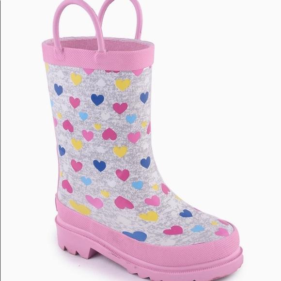 girls rain boots size 5